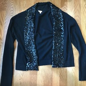 J Crew Factory merino wool sequin shawl cardigan S
